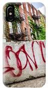 Cincinnati Glencoe Hole Graffiti Picture IPhone Case