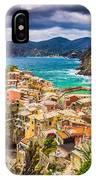 Cinque Terre Sunset IPhone Case