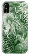 Circa 1900 Samurai Tattoo In Green IPhone Case