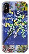 Circle Tree Collage IPhone Case