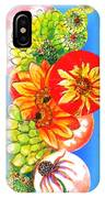 Circles Of Flowers IPhone Case