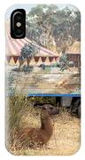 circus circus 2 - A vintage circus wagon with african paint and llama camel  IPhone Case