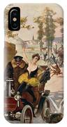 Circus Star Kidnapped Wilhio S Poster For De Dion Bouton Cars IPhone Case