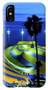 Circus Tent Swirls Of Blue Yellow Original Fine Art Photography Print  IPhone Case