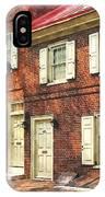 Cities - Philadelphia Brownstone IPhone Case