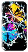 Citric Acid Crystals In Polarized Light IPhone Case