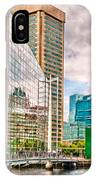 City - Baltimore Md - Harbor Place - Future City  IPhone X Case