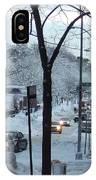 City In Snow IPhone Case