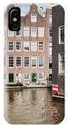 City Of Amsterdam Canal Houses IPhone Case