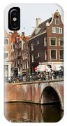 City Of Amsterdam In Holland IPhone Case
