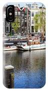 City Of Amsterdam River View IPhone Case