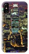 City Of London Skyline At Night IPhone Case