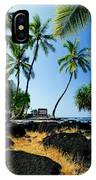 City Of Refuge - A View Of A Hawaiian Traditional House  IPhone Case