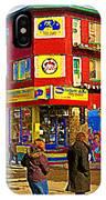 City Paint Benjamin Moore Rue Rachel And Hotel And De Ville Montreals Oldest Paint Store  C Spandau  IPhone Case