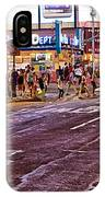 City Scene - Crossing The Street - The Lights Of New York IPhone Case