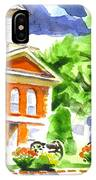 City Square In Watercolor IPhone Case