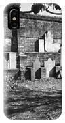 Civil War Wall Of Tombstones Savannah Georgia IPhone Case