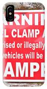 Clamping Sign IPhone Case