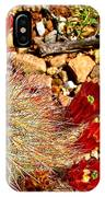 Claret Cup Cactus On Panther Junction Nature Trail In Big Bend National Park-texas IPhone Case