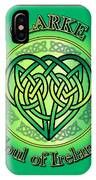 Clarke Soul Of Ireland IPhone Case