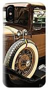 Classic 1928 Ford Model A Sport Coupe Convertible Automobile Car IPhone Case