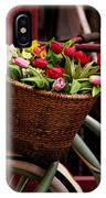 Classic Bicycle With Tulips IPhone Case