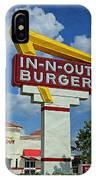 Classic Cali Burger 1.1 IPhone Case