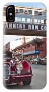 Classic Cannery Row - Monterey California With A Vintage Red Car. IPhone Case