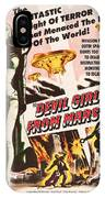 Classic Devil Girl From Mars Poster IPhone Case