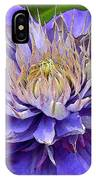 Clematis Blue IPhone Case