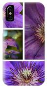 Clematis Collage IPhone Case
