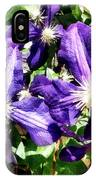 Clematis On A Stone Wall IPhone Case