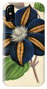 Clematis Star Of India IPhone Case