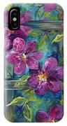 Clematis Turquoise Garden IPhone Case