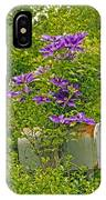 Clematis Vine On Mailbox IPhone Case