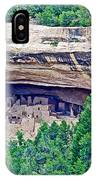 Cliff Palace From Chapin Mesa Top Loop Road In Mesa Verde National Park-colorado  IPhone Case