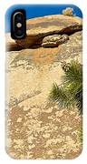 Climber At Quail Springs In Joshua Tree Np-ca IPhone Case