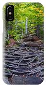 Climbing The Rocks And Roots Of Bald Mountain IPhone Case