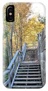 Climing Into Autumn IPhone Case