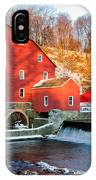 Clinton Mill In Winter IPhone Case