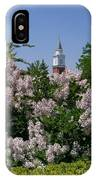 Clock Tower And Lilacs IPhone Case