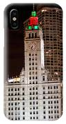 Clock Tower In Chicago  IPhone Case