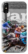 Close Finish At Turf Paradise IPhone Case
