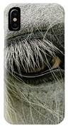 Close-up Details Of Gypsy Vanner Horse IPhone Case