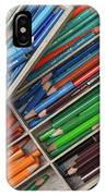 Close-up Of Color Pencils, Ishoj IPhone Case