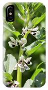 Close Up Of Fava Bean Blossoms IPhone Case