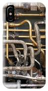 Close-up Of Tangled Pipes IPhone Case