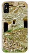 Close-up Of Tufa-carved Homes In Cappadocia-turkey IPhone Case