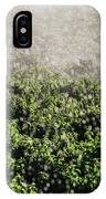 Close-up Of Water From A Sprinkler IPhone Case