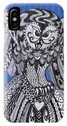 Close Up Owl Blue IPhone Case
